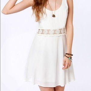 LuLu's I Mid You Not Ivory Lace Dress Small